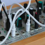 modular synths closeup