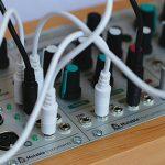 modular synths closeup