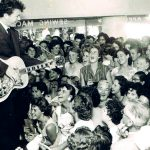 Johnny Devlin making a record store appearance, 1958/59.